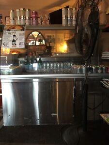 Pastry/drink fridge 36 in. Length, 60 in in width, /48 in. High