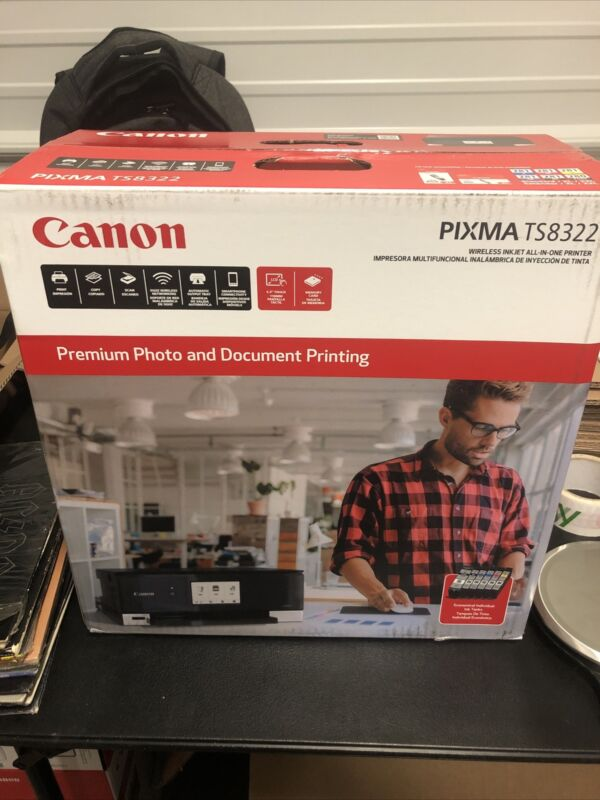 Canon PIXMA TS8322 All-In-One Wireless Color Inkjet Photo Printer NEW & SEALED