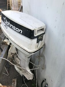 Johnson outboard motor 1986 40hp for parts