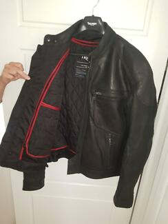 Motorcycle Jacket  Leather Black  size  XL . New Never worn.