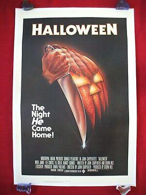 HALLOWEEN * 1978 ORIGINAL MOVIE POSTER 1SH LINEN BACKED ROLLED NEVER FOLD - Original Halloween Movie 1978