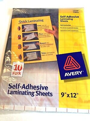 Avery Clear Self Laminating Sheets 9 X 12 10 Pack