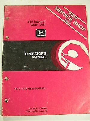 John Deere 515 Integral Grain Drill N159574 F2 Operators Manual