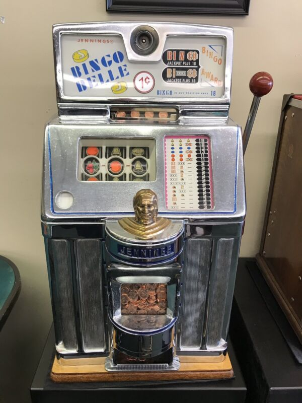 1 Cent jennings Bingo Belle Slot Machine Converted From a 6 Pence