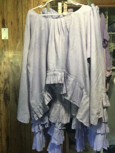 AUTHENTIC RITANOTIARA Light Purple Linen Top & Bloomers!~