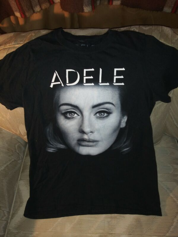 Adele 2016 Concert T Shirt Adult S Remedy Touring Black Short Sleeve 100% Cotton