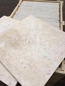 Fossil Stone Limestone Tumbled and Brushed Tiles 600x600x18mm Terrey Hills Warringah Area Preview