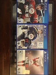 NHL18, NHL17 and NHL16 for PS4