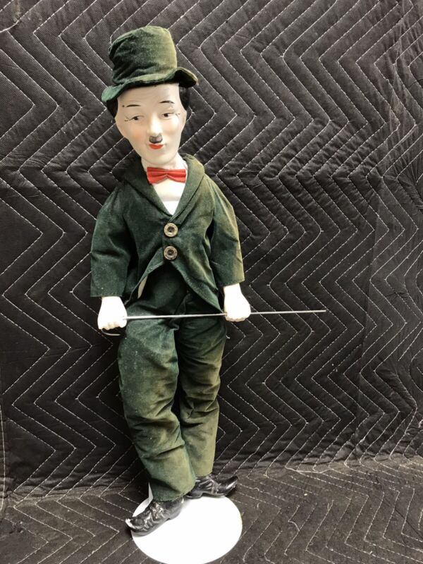 "Vintage Charlie Chaplin Doll  22"" Unmarked Charlie"