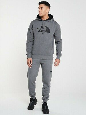 The North Face Mens Drew Peak Hoodie - Heather Grey - Sizes Small to 2XL