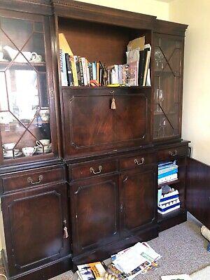Mahogany antique display cabinet used