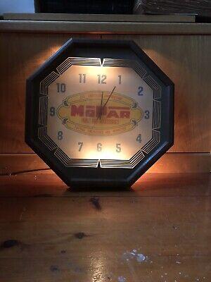Vintage Original Mopar Chrysler Parts Dodge Lighted Working wall Clock