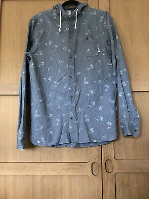 Men's Vans Grey Hoodie Button Shirt / Size Medium