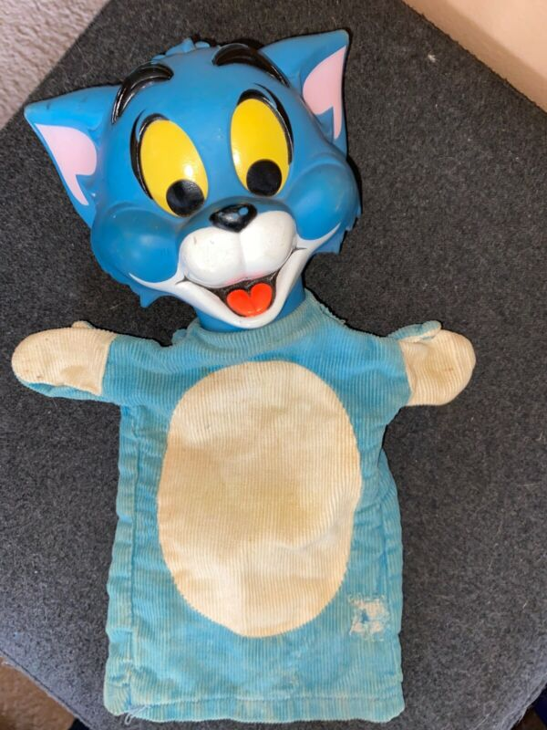 Mattel 1966 Vintage Tom and Jerry Puppet Figure TOM ONLY