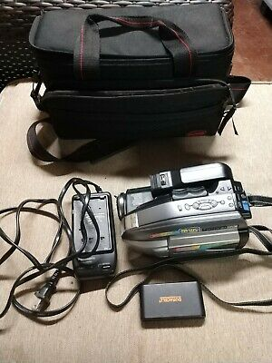 Panasonic VHS-C Video Camcorder PV-L352D Cables Charger Tapes PalmCorder -
