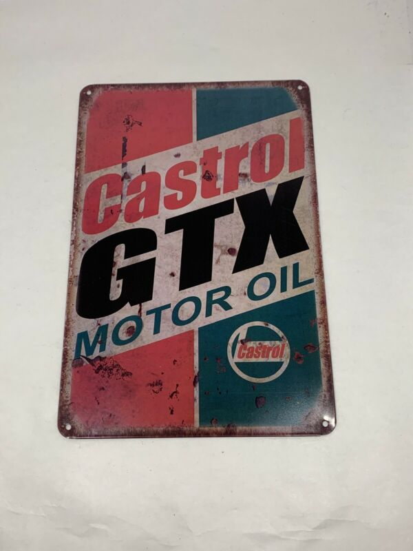 Castrol GTX Motor Oil 8X12 Tin Sign