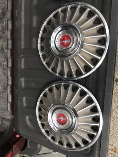 """1967 Ford mustang Stock 14"""" Hubcaps Rims Tires Set Of 4"""