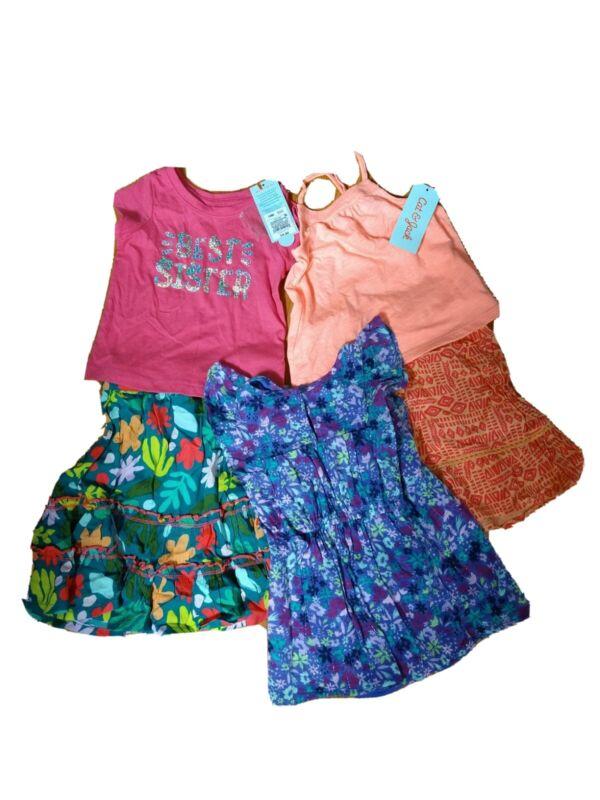 Cat & Jack INFANTS Size 12M Lot Of 5 T-shirt /Dress/Skirt (#m8