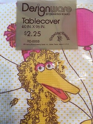 70 Party Clothes (Vintage 70's Big Bird Party Table Cover Cloth NOS Sesame Street Muppets)