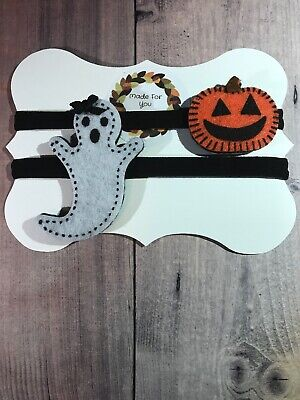Halloween Headbands For Infants (Halloween Headbands Ghost Pumpkin For Baby Or Toddler Handmade CUTE! Nylon)