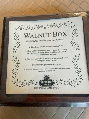 Sudberry House Walnut Box Designed to Display Needlework New