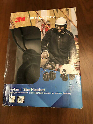 3m Peltor Protac Iii Slim Active Headset Ear Muffs Large Open Box Free Ship