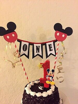 Mickey Mouse Cake Topper / Cake Decor, Birthday  Party,Birthday Candle