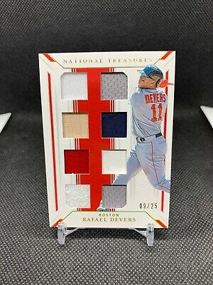 2019 National Treasures Rafael Devers 8-Way Patch Jersey Bat Relic 09 /25