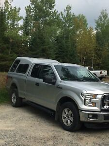F150XLT 2015 4 by 4 with Leer camper shell