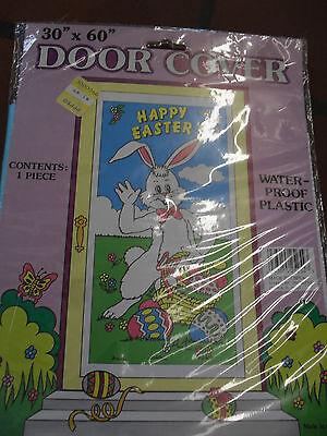 EASTER DOOR COVER HAPPY EASTER DOOR COVER 30'' X 60'' BUNNY HOLDING BASKET Happy Easter Door Cover