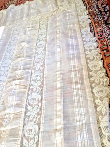 "Vintage Lace  bed cover / spread bedspread 41""x 90"""