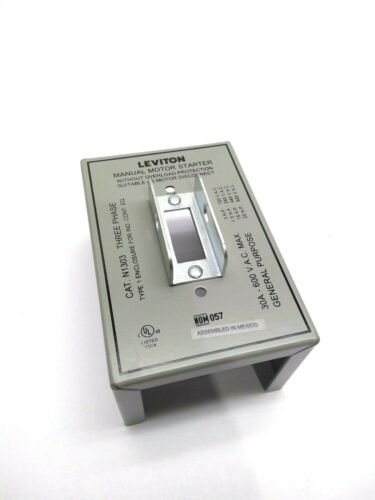 Leviton N1303 Manual Motor Starter Cover
