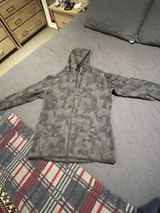 Large Nike tech fleece grey black camo hoodie