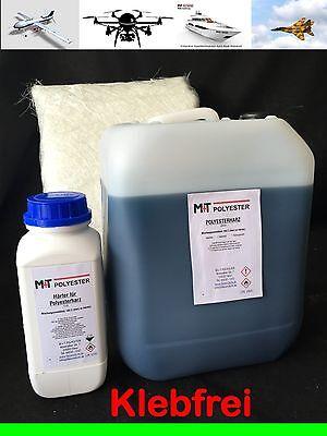 5 kg Polyesterharz GFK + 5 m² Glasfasermatte 225 g Polyester KFZ Reparaturset