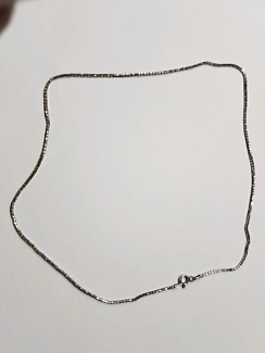 46cm .925 italy stamped silver necklace