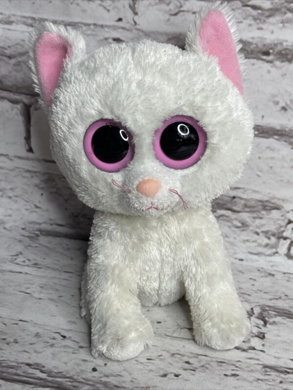"""Ty Beanie Boos Cashmere White Cat  6"""" NO SWING TAG"""