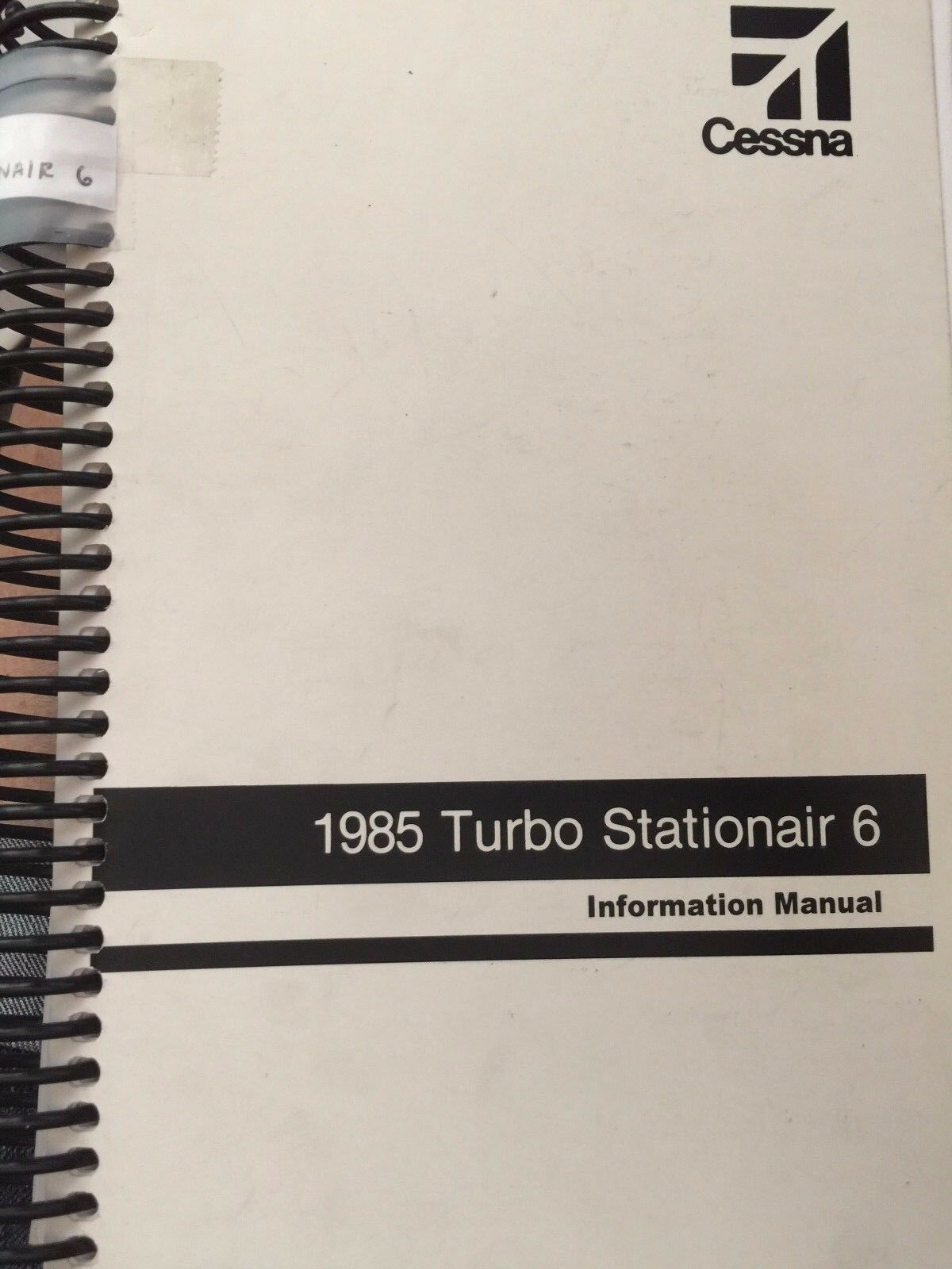 1985 CESSNA Turbo Stationair 6 INFORMATION MANUAL D1283-13 85TU206IM