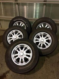 """Set of Five 18"""" Jeep Wrangler Wheels and Tires"""