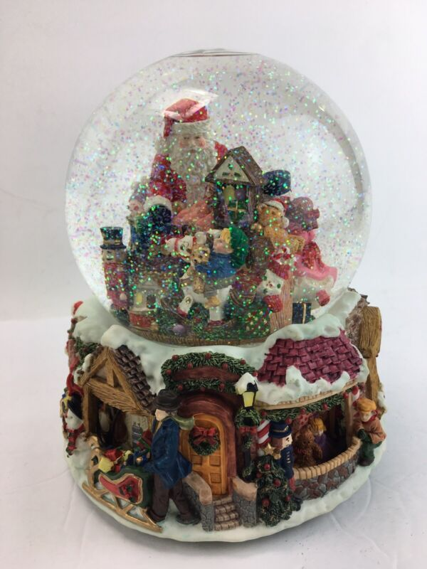 KIRKLAND SIGNATURE MUSICAL Christmas Water Globe With Revolving Base Toy Shop