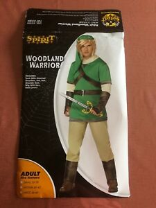 Woodland Warrior Legend of Zelda HALLOWEEN Costume ADULT SMALL