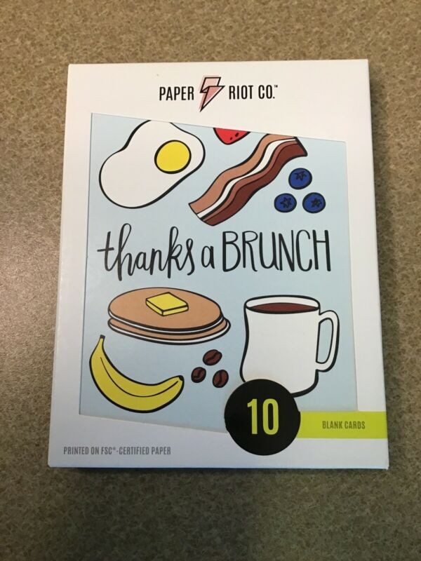 "Paper Riot Co ""Thanks a Brunch"" Thank You Cards, 10 Count"