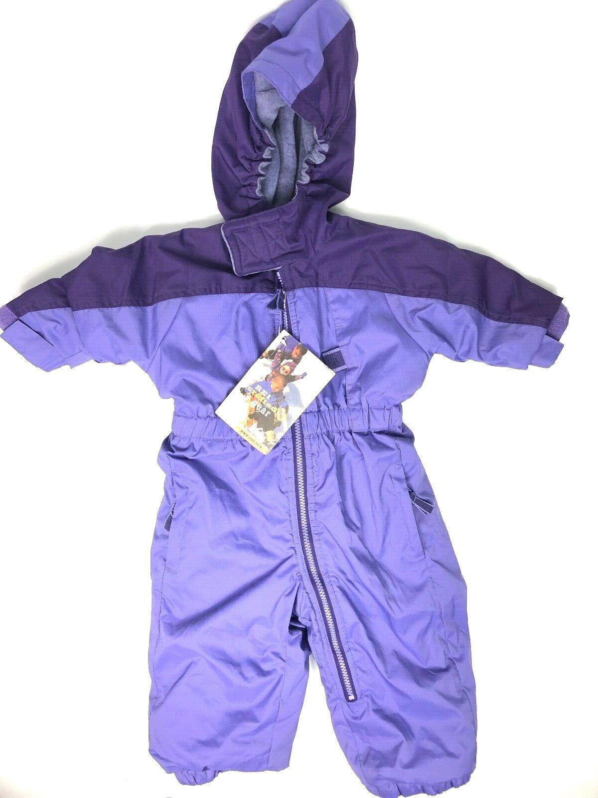 REI Infant Kids Size 18 M Purple Snow Suit Winter Activewear