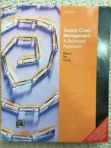 Supply chain management a balanced approach 3rd edition