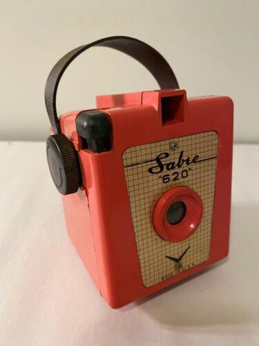 Vintage Red Box Camera SABRE 620 Plastic Film