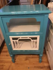 Ocean blue and white cabinet