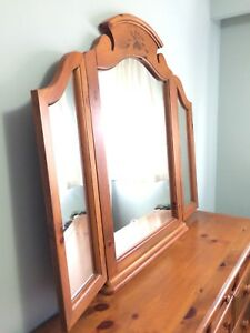 French pine 100% bedroom dresser mirror provincial
