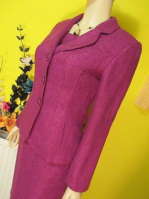 HOBBS FUSCHIA PINK FORMAL DRESS SUIT SZ 8 WEDDINGS BUSINESS CONFERENCE ETC.., used for sale  Shipping to South Africa