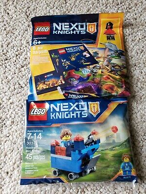 LEGO Nexo Knights - 2 Sets - Pack 5004388 & Robin's Mini Fortrex 30372 polybags