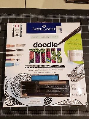 Faber-castell Doodle Mix memory design kit - Marker pen crayon pencil for sale  Shipping to India