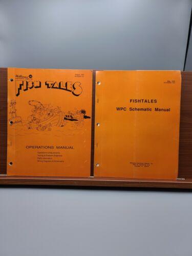 FISH TALES Pinball Machine Williams 1992 Operations Manual & Schematic Manual